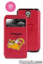 Samsung Galaxy Note 3 TTOMA View Flip Case (Angel Hot Pink)