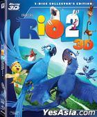 Rio 2 (2014) (Blu-ray) (2-Disc Collector's Edition) (3D) (Hong Kong Version)