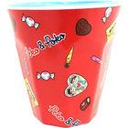 Pekochan Printed Plastic Cup (Red)