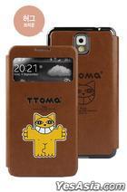 Samsung Galaxy Note 3 TTOMA View Flip Case (Hug Brown)
