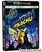 Pokemon Detective Pikachu (4K Ultra HD + 3D + 2D Bluray) (Limited Edition) (Korea Version)