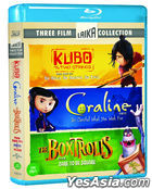 Kubo and the Two Strings + The Boxtrolls + Paranorman + Coraline (2D + 3D Blu-ray) (4-Disc) (Limited Edition) (Korea Version)