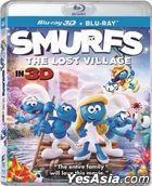 Smurfs: The Lost Village (2017) (Blu-ray) (2D + 3D) (Hong Kong Version)