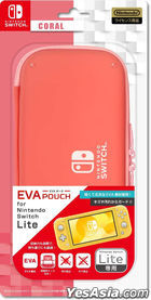 Nintendo Switch Lite EVA Pouch (Coral) (Japan Version)