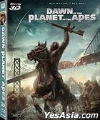 Dawn of the Planet of the Apes (2014) (Blu-ray) (2D + 3D) (Hong Kong Version)