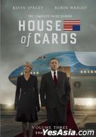 House Of Cards (2013) (DVD) (The Complete Third Season) (Hong Kong Version)