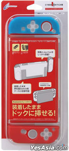 Nintendo Switch Premium Protect Cover Separate (Clear Blue x Clear Red) (Japan Version)