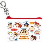 Crayon Shin-Chan Mini Flat Pouch (Characters/Face)