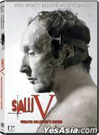 Saw V (DVD) (Unrated Collectors Edition) (Hong Kong Version)