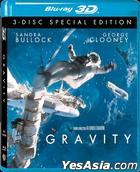 Gravity (2013) (Blu-ray) (2D + 3D) (3-Disc Special Edition) (Hong Kong Version)