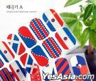 Korean Pattern Nail Wraps (Korean Flag A)