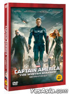 Captain America: The Winter Soldier (2014) (DVD) (Korea Version)