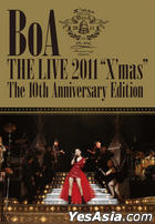 BoA - BoA THE LIVE 2011 X'mas -The 10th Anniversary Edition- (DVD) (First Press Limited Edition) (Korea Version)