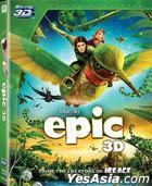 EPIC (2013) (Blu-ray) (3D) (Hong Kong Version)