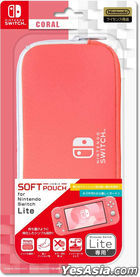 Nintendo Switch Lite Soft Pouch (Coral) (Japan Version)
