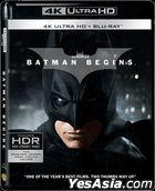Batman Begins (2005) (4K Ultra HD + 2 Blu-ray) (3-Disc Edition) (Hong Kong Version)