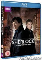 Sherlock Complete Series 3 (Blu-ray) (2-Disc) (First Press Limited Edition) (Korea Version)