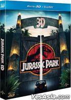 Jurassic Park (1993) (Blu-ray) (2D + 3D) (Hong Kong Version)
