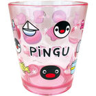 Pingu Clear Plastic Cup (Red)