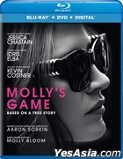 Molly's Game (2017) (Blu-ray + DVD + Digital) (US Version)