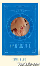 YUKIKA Mini Album Vol. 1 - Timeabout (Time Blue Version) + Poster in Tube (Time Blue Version)