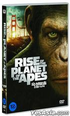 Rise of the Planet of the Apes (DVD) (Korea Version)