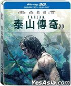 The Legend Of Tarzan (2016) (Blu-ray) (3D + 2D) (2-Disc Edition) (Steelbook) (Taiwan Version)
