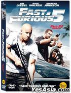 Fast & Furious 5 : Fast Five (DVD) (2-Disc) (First Press Limited Edition) (Korea Version)