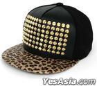 G-Dragon Style - Stud Leopard Snapback