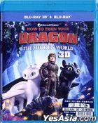 How to Train Your Dragon: The Hidden World (2019) (Blu-ray) (2D + 3D) (Hong Kong Version)