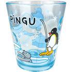 Pingu Clear Plastic Cup (Blue)