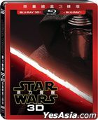 Star Wars: Episode VII - The Force Awakens (2015) (Blu-ray) (3D + 2D) (Steelbook) (3-Disc Limited Edition) (Taiwan Version)