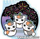 Natsume Yujincho : Kirie Series Accessory Stand Triple Nyanko-sensei B Fireworks