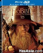 The Hobbit: An Unexpected Journey (2012) (4-Blu-ray) (2D + 3D) (Hong Kong Version)