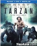 The Legend of Tarzan (2016) (Blu-ray + DVD + Digital HD) (US Version)