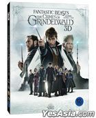 Fantastic Beasts: The Crimes of Grindelwald (2D + 3D Blu-ray) (O-Ring Character Card First Press Limited Edition) (Korea Version)