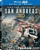 San Andreas (2015) (Blu-ray) (2D + 3D) (Lenticular) (Hong Kong Version)