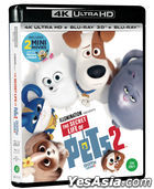 The Secret Life of Pets 2 (4K Ultra HD + 3D + 2D Blu-ray) (First Press Limited Edition) (Korea Version)