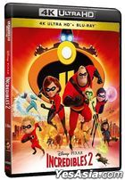 Incredibles 2 (2018) (Blu-ray) (4K Ultra HD + Blu-ray) (Hong Kong Version)