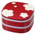 Hakoya 19.0 2 Layers Lunch Box Sakura Red