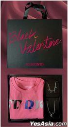 Kerrist - Black Valentine Set Black Box (Pink T-Shirt Size M + Bracelet + Necklace)