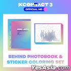 KCON:TACT 3 Official MD - Behind Photobook & Sticker Coloring Set (A.C.E / Loona / The Boyz)