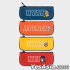 Kakao Friends Friends School PU Piping Pencil Pouch Case (Apeach)