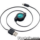 New 2DS LL USB Rolling Charging Cable (黑色x藍色) (日本版)