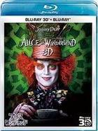 Alice in Wonderland 3D Set (3D Blu-ray + Blu-ray) (Blu-ray) (Japan Version)