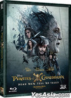 Pirates of the Caribbean: Dead Men Tell No Tales (2D + 3D Blu-ray) (2-Disc) (Combo Edition) (Korea Verion)