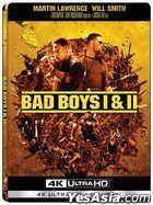 Bad Boys (1995) + Bad Boys II (2003) (4K Ultra HD + Blu-ray) (Steelbook) (Hong Kong Version)