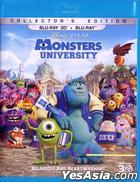 Monsters University (2013) (Blu-ray) (2D + 3D) (Hong Kong Version)