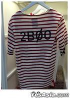EXO - Stardium Playground Stripe T-Shirt (D.O. / Red) (One Size)