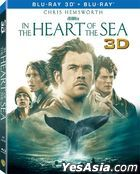 In the Heart of the Sea (2015) (Blu-ray) (2D + 3D) (Lenticular) (Hong Kong Version)